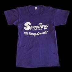 1970s Speedway Motors – Filth Mart Vintage Tees, Motors, 1970s, Mens Tops, T Shirt, Supreme T Shirt, Tee Shirt, Motorbikes, Tee