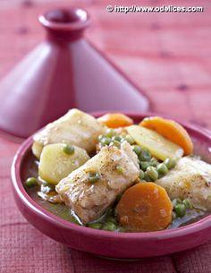 Tajine de cabillaud aux l�gumes - �d�lices : Recettes de cuisine faciles et originales !