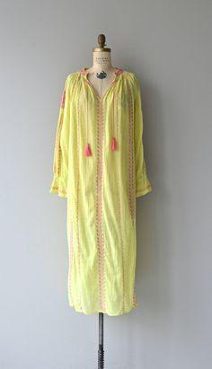 Chettinad dress  vintage 1970s cotton gauze dress  by DearGolden