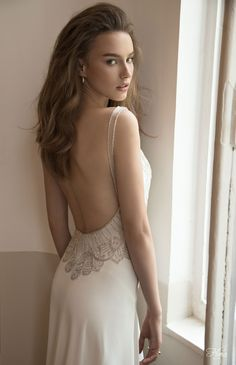 LOVE the dip in the back - so sexy!   Floral Bridal 2015 Wedding Dress Collection | Bridal Musings Wedding Blog 1