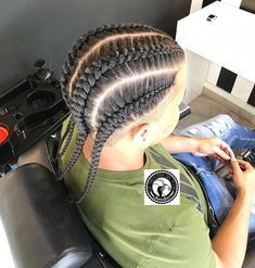 Image may contain: one or more people Cornrow Hairstyles For Men, Black Men Hairstyles, Twist Hairstyles, Hairstyles Haircuts, Hair Twist Styles, French Braid Styles, Hair And Beard Styles, Curly Hair Styles, Boys Cornrows