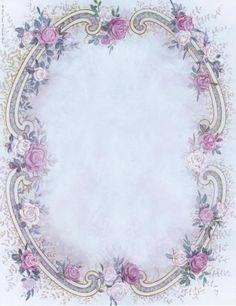 Frame - pale blue backgrounf w/lavender flowers.