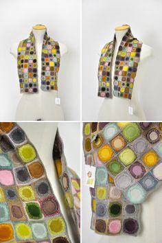 Sophie Digard crochet motif scarf-looks like a piece of artwork!!
