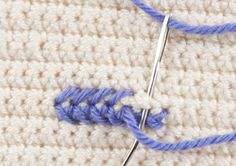 How to Cross Stitch on Crochet - Tutorial ❥ 4U // hf