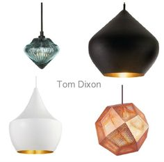 Tom Dixon lighting via Simply Grove