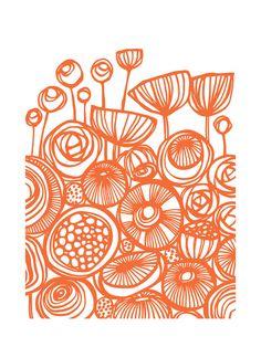 Flower art - pop art flowers art print by gill eggleston Sgraffito, Art Floral, Art Et Nature, Silkscreen, Inspiration Art, Linocut Prints, Pattern Art, Pattern Flower, Oeuvre D'art