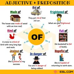 40+ Useful Adjective Combinations with the Preposition OF - 7 E S L