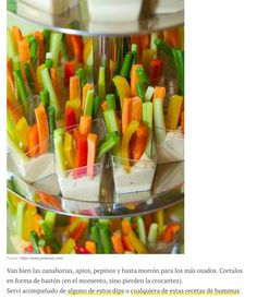 7 Easy Appetizer and Party Snack Ideas Healthy-Snacks As hard as you tried to avoid it, you were put on the list for veggie tray. Well bring your veggie tray with a bang, and put the vegetables in their own cups with ranch. Snacks Für Party, Appetizers For Party, Appetizer Recipes, Diet Snacks, Appetizer Ideas, Veggie Appetizers, Party Recipes, Birthday Appetizers, Baby Shower Appetizers