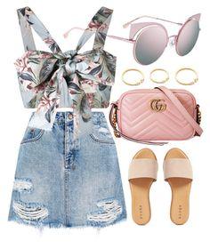 """Fendi"" by smartbuyglasses-uk ❤ liked on Polyvore featuring Fendi, Ksubi, Zimmermann, Gucci, Hinge and Pink"