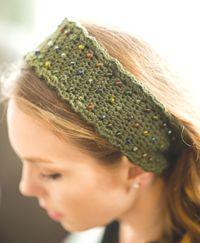 Woodland Trail Headband - A free beaded #headband pattern from Love of #Crochet magazine