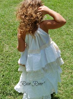 boho flower girl dress | Boho flower girl dress, Vintage flower girl dress, Custom girls dress ...