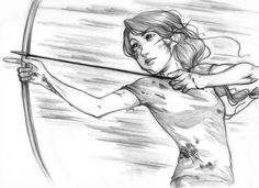 The Hunger Games Katniss by curry23.deviantart.com on @deviantART Why can't I draw like this?