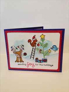 Lawn Fawn Cheery Christmas card by Melodie