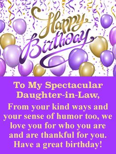 41 Best Birthday Cards For Daughter In Law Images