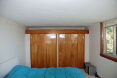 Large closet in the living quarter; indirect light above the closets