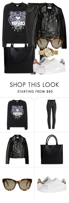 """""""Untitled #4894"""" by beatrizvilar on Polyvore featuring Kenzo, Vetements, Yves Saint Laurent, Givenchy, STELLA McCARTNEY, adidas and Michael Kors"""