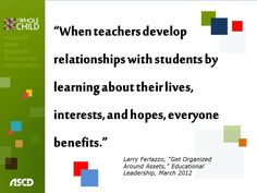 "Larry Ferlazzo, ""Get Organized Around Assets,"" Educational Leadership, March 2012"