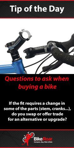 Questions to ask when buying a new bike: Upgrade Cost #BikeRoarTOD