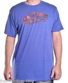 Vans Men's Paisley Logo Custom Tee Shirt Size Large
