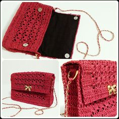 Crochet bag raffia örgü çanta