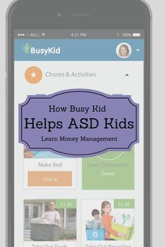 BusyKid Helps ASD Kids Learn to Manage Money #ad Tap the link to check out fidgets and sensory toys! Happy Hands Toys!