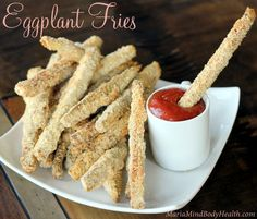 These fries are SO tasty! My suggestion is to check out your local farmer's market (I just got 2 HUGE eggplant for $1!). Since you are going through the preparation to make them, why not do a quadruple batch!? So, what I did was prepare the eggplant fries and instead of baking them all right away, I froze a couple of Ziplocks full so I have an easy addition to dinner on those busy nights!