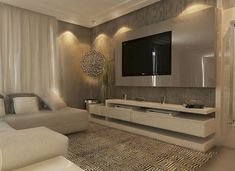 60 Most Trending Sectional Tv Room Decoration Ideas - Diaror Diary - Page 34 ♥ 𝕴𝖋 𝖀 𝕷𝖎𝖐𝖊, 𝕱𝖔𝖑𝖑𝖔𝖜 𝖀𝖘!♥ ♥ ♥ ♥ ♥ ♥ ♥ ♥ ♥ ♥ ♥♥♥ Hope this cozy tv room decoration ideas inspire you! Tv Wall Design, Design Case, Living Room Tv, Home And Living, Small Living, Home Interior Design, Luxury Interior, Room Interior, Modern Interior