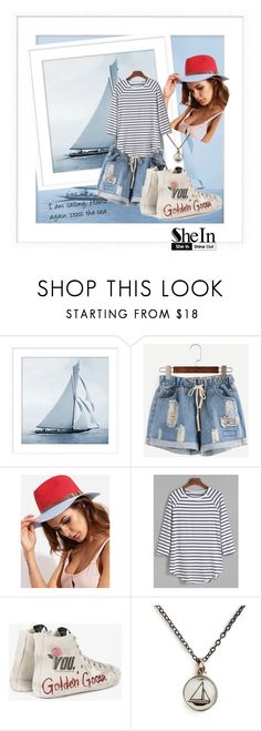 """""""Weekend at home"""" by andrea-pok ❤ liked on Polyvore featuring Pottery Barn, Golden Goose, Chart Metal Works, casual, weekend and shein"""