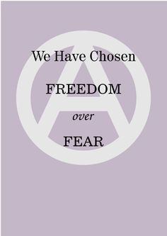 We have chosen freedom over fear