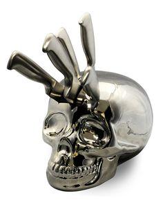 Knife #Skull Stand: http://skullappreciationsociety.com/knife-skull-stand/ via @Skull_Society