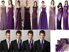 Bridesmaids and Groomsmen : PANTONE WEDDING Styleboard : The Dessy Group