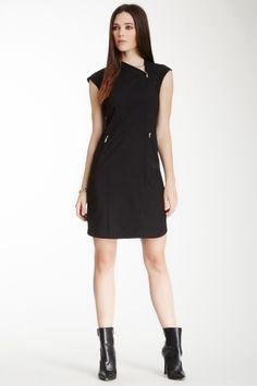 Zipper Neck Wool Blend Dress on HauteLook