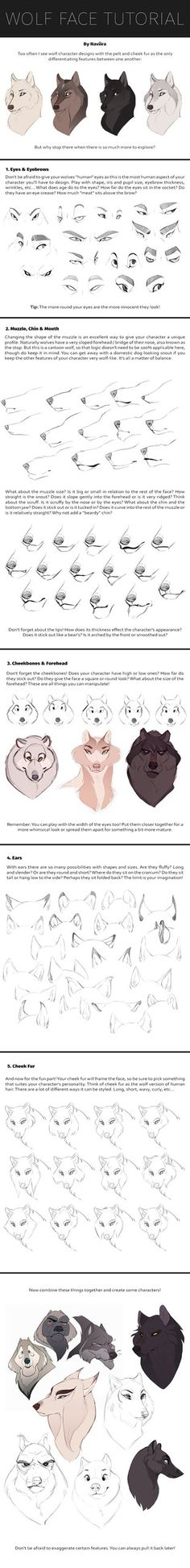 Wolf Face Tutorial by Naviira on DeviantArt
