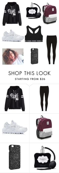 """""""school day😍"""" by pearl24 ❤ liked on Polyvore featuring beauty, WithChic, Dorothy Perkins, NIKE and Victoria's Secret"""