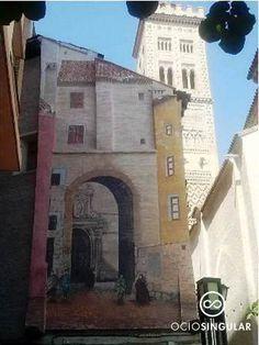 Puertas históricas (III) Puerta de Valencia, de la época romana,en el actual barrio de la Magdalena derribada en 1867. Arte Urbano