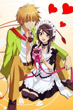 Day 8.  Favourite Anime couple  Usui and misaki from kaichou wa maid sama. They are so cute, awkward, funny and just the feels when they have their moments or usui teases her! I've chosen them as my favourite because they I just love love love them and this anime!