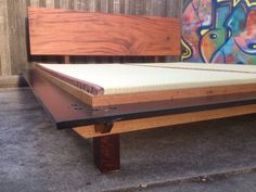 Tatami and very rare Teak and recycled timber bed