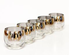 LOVE these! Vintage ombre silver rimmed roly poly glasses by TarragonVintage, $39.00