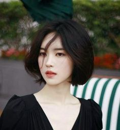 Straight Gorgeous Simple Asian Girl Asian-Short-Haircuts