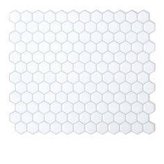 Smart Tiles 9.63 in. x 11.27 in. Peel and Stick Hexagon Mosaic Decorative Tile Backsplash in White-SM1038-6 at The Home Depot