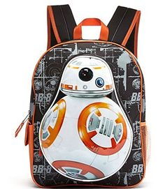 Star Wars The Force Awakens Backpack with BB8 lunch box and ...