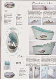 how tomato shabby chic dollhouse bathtubhow to: mini bathtub plus shoes, kitchen fittings, rooms and houses and more. Dollhouse Miniature Tutorials, Miniature Crafts, Miniature Houses, Diy Dollhouse, Miniature Dolls, Dollhouse Miniatures, Doll House Crafts, Doll Crafts, Miniature Furniture