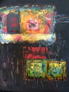 "Mixed media painting, by Deb Dresler $125 16""x20"""