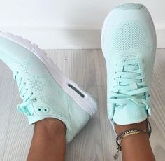 """""""Nike"""" Women Mint Green Sneakers Sport Shoes"""