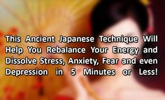 How to Dissolve Stress, Anxiety, Fear and Even Depression in Less than 5 Minutes! -click on photo...simple holding finger exercise