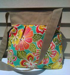 Cotton bag Diaper bag Messenger bag beach bag by beautifullbags