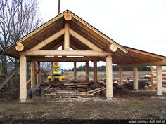 Backyard Pavilion, Outdoor Pavilion, Backyard Gazebo, Living In A Shed, Tent Living, Lake Cabins, Cabins And Cottages, Outdoor Shelters, Carport Designs
