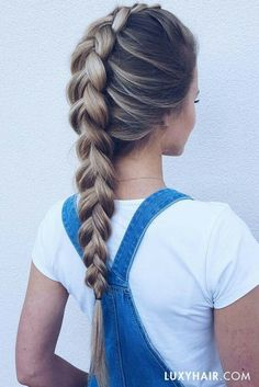 48 Cool and Easy Hairstyles for school
