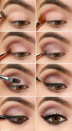 Maquillage rose violet