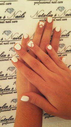 Gel white nails